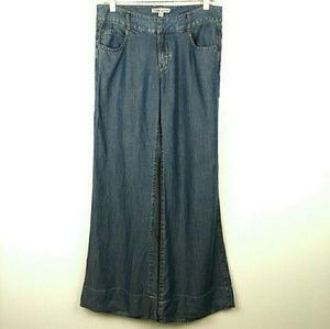 CAbi 336 Lightweight Wide Leg Tencel Trouser Jeans
